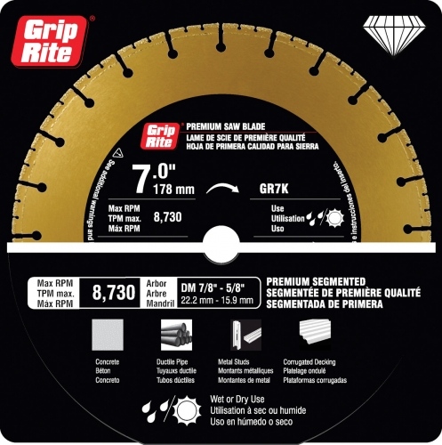 Steel Cutting K Blades Grip Rite Building Tools And Supplies