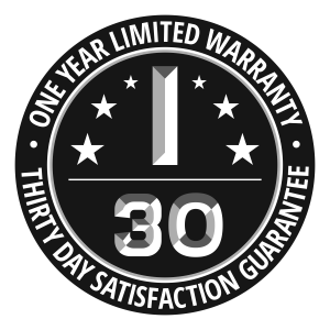 30 Day Guarantee and 1 Year Warranty